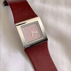 DKNY watch with pink Swarovski crystals